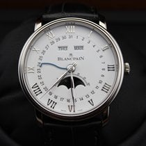 Blancpain [NEW] Villeret Moonphase White Dial S/S(Retail:HK$12...
