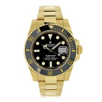 Rolex SUBMARINER 18K Yellow Gold Black Ceramic