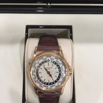 Patek Philippe 18K ROSE SILVER DIAL WORLD TIME GENTS  5110R-001