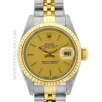 Rolex stainless steel and 18k yellow gold lady Datejust