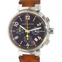 Louis Vuitton Tambour Chrono Q1121 Steel, Leather, 41mm