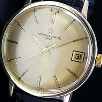 Eterna-matic 3000 Automatic Date Gold Cap Steel Mens Watch