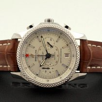 Breitling for Bentley Mark VI Steel Beige Dial Croco 42 mm...