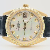 Rolex Date 18k Yellow Gold Mother of Pearl Dial (With Rolex Box)