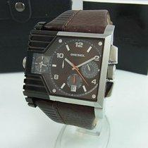 Diesel Dz-4186 Xl Chronograph Herrenuhr Braun Mit Lederband...