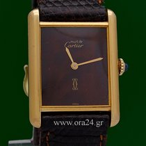 Cartier Must De Cartier Chocolate Manual Winding Gold Plated...