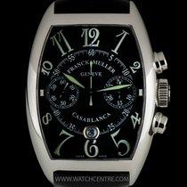 Franck Muller S/S Black Dial Casablanca Chrono Gents B&P...