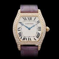 Cartier Tortue Original Diamonds 18k Yellow Gold Unisex 2496
