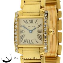 Cartier Tank Francaise Solid 18k Yellow Gold Ladies 2385...