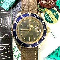 Rolex Submariner 16808 Gold Tropical Green  Dial Full Set Papers