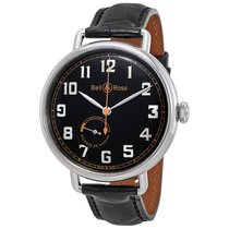 Bell & Ross Black Dial Automatic Men's Leather Watch