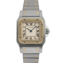 Cartier Santos Ladies Steel & Gold (Black Numerals)
