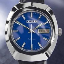 Citizen Vintage Mens Blue 17 Jewels Manual Wind 1970s Japanese...
