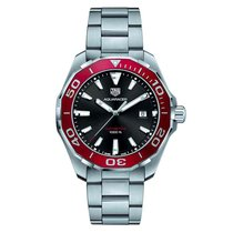 TAG Heuer Men's WAY101B.BA0746 Aquaracer Red Bezel Quartz...