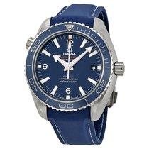 Omega Planet Ocean Titanium Co-Axial Blue Dial Mens Watch...