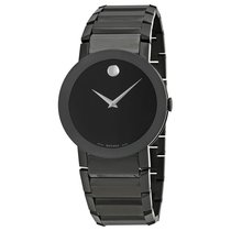Movado Sapphire PVD Black Bracelet Mens Watch 0606307