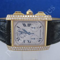 Cartier Tank Francaise in 750/18 K Diamonds,original Besatz...