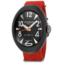 Locman Nuovo Carbonio Automatic Black Dial Red Cordura Fabric...