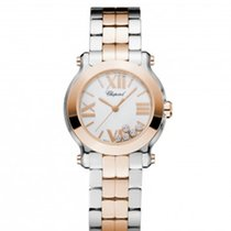 Chopard 278509-6003Happy Sport 30mm Gold Steel Diamonds Lady