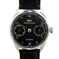 IWC Portuguese Stainless Steel Black Automatic Iw500109