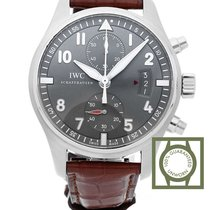 IWC Spitfire Chronograph 43mm Slate Grey Dial NEW
