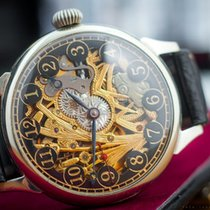 Omega Marriage watch skeletonized  steel c.1933