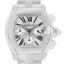 Cartier Roadster Chronograph Silver Dial Automatic Mens Watch...