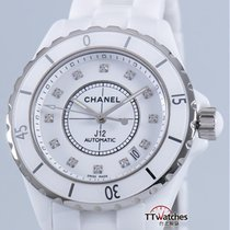 Chanel J12 White Ceramic Large H1629 Automatic Diamond Dial