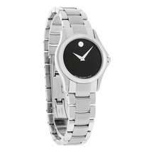 Movado Military Ladies Stainless Steel Swiss Quartz Watch 0605870