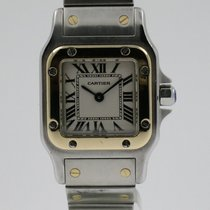 "Cartier ""Santos Galbee PM"" 18K gold/steel Ladies"