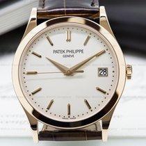 Patek Philippe 5296R-010 Calatrava 18K Rose Gold Silver Dial...