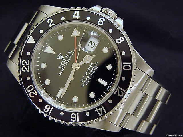 Rolex Stainless Steel Gmt-master Date Watch Black