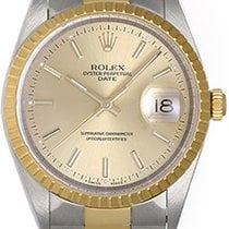 Rolex Date Men's Stainless Steel & Gold 2-Tone Watch...