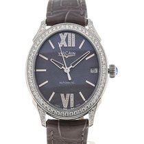 Vulcain First Lady Steel MoP Diamonds Charcoal Alligator Brill.
