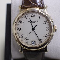 Patek Philippe Philippe Calatrava 18K Yellow Gold Leather...