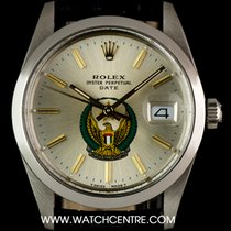 Rolex Stainless Steel O/P UAE Crest Eagle Logo Dial Date 15000