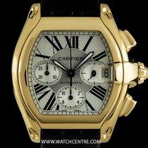 Cartier 18k Yellow Gold Silver Dial Roadster XL Chronograph...