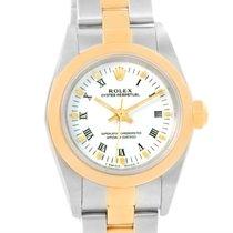 Rolex Nondate Steel 18k Yellow Gold White Dial Ladies Watch 76183