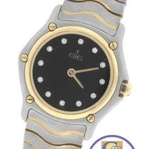 Ebel Classic Wave Black Diamond 18K Gold Stainless 1057901 Quartz