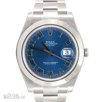 Rolex Datejust II 116300 Stahl Blue Roman ungetragen 01/2017