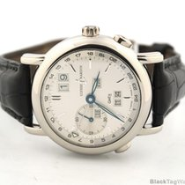 Ulysse Nardin Second Time Zone GMT +/- Perpetual 18k White Gold