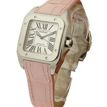 Cartier W20126X8 Santos 100 - 32mm Steel - Steel on Strap with...