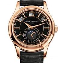 Patek Philippe Annual Calendar 5205R Rose Gold Black Dial...