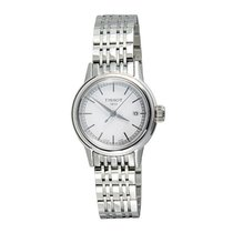 Tissot Women's Carson White Dials Stainless Steel Watch...
