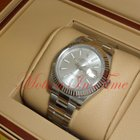 Rolex Datejust II Stainless 18k White Gold Fluted Bezel...