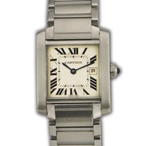 Cartier Tank Francaise 2465 Stainless Steel Midsize Watch