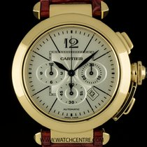 Cartier 18k Y/G Silver Dial Pasha XL Chrono Gents B&P...