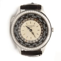 Patek Philippe World Time 18K White Gold Automatic Diamond