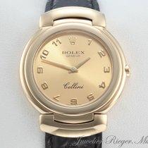 Rolex Cellini 6622 Gelbgold 750 Leder
