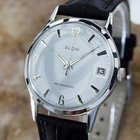 Elgin Made In Germany Automatic 1960s Stainless Steel Mens...